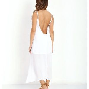 NWT SMYM Hey You Back Love Back Midi Dress
